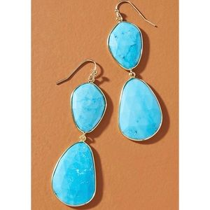 New Anthropologie Luna Double Drop Earrings
